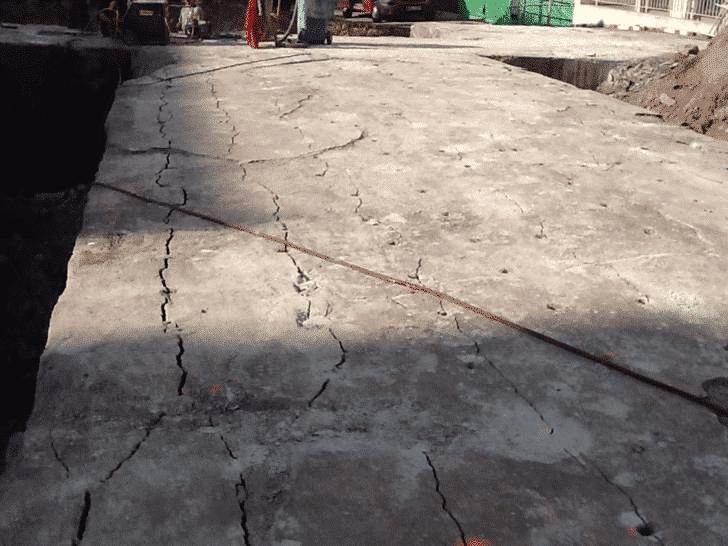Beton schneiden mit Betonamit