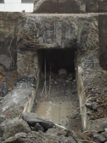 Betonbunker Abbruch mit Quellsprengstoff