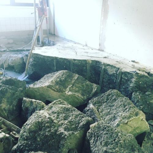 BETONAMIT® Abbruch Betonfundament mit Betonamit