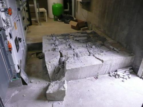 Beton zerkleinern mit Sprengbeton